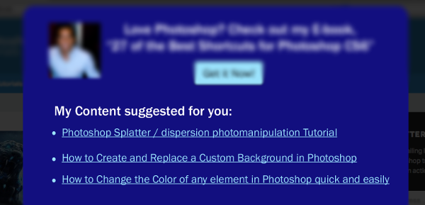 Photoshop ebook content suggest